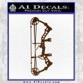 Compound Bow Decal Sticker INT Brown Vinyl 120x120