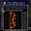 Compound Bow Decal Sticker INT Orange Vinyl Emblem 120x120