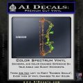 Compound Bow Decal Sticker INT Sparkle Glitter Vinyl 120x120