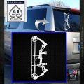Compound Bow Decal Sticker INT White Emblem 120x120