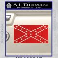 Confederate Flag Decal Sticker DO Red Vinyl 120x120