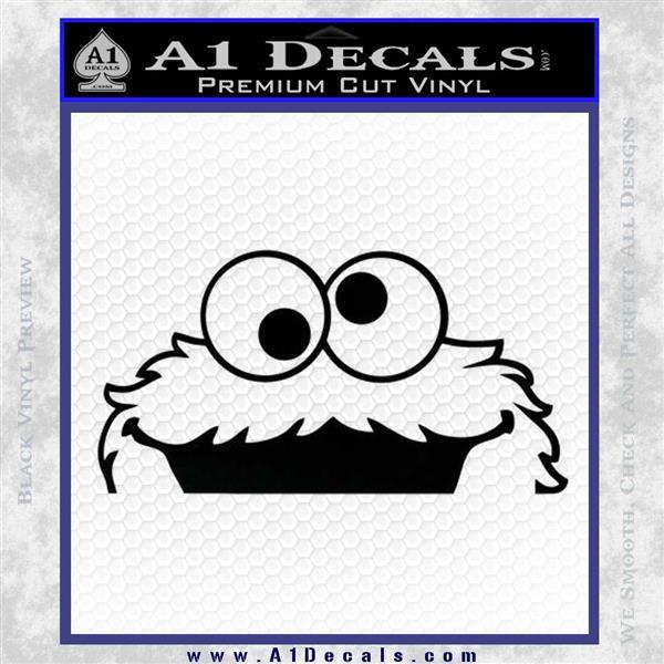 Cookie Monster Peeking Decal Sticker 187 A1 Decals
