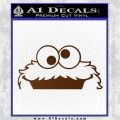 Cookie Monster Peeking Decal Sticker Brown Vinyl 120x120