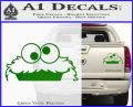 Cookie Monster Peeking Decal Sticker Green Vinyl 120x97