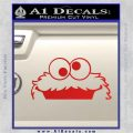 Cookie Monster Peeking Decal Sticker Red Vinyl 120x120