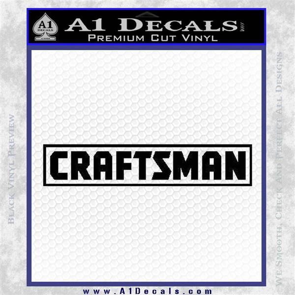 Craftsman Decal Sticker Sears Black Logo Emblem