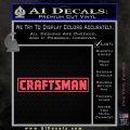 Craftsman Decal Sticker Sears Pink Vinyl Emblem 120x120
