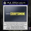 Craftsman Decal Sticker Sears Yelllow Vinyl 120x120