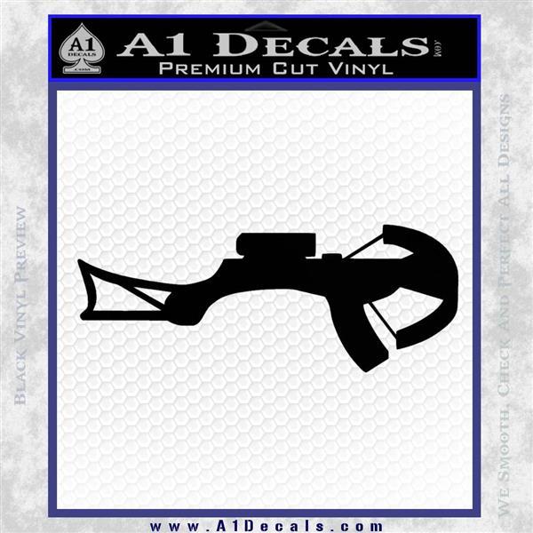 Crossbow Decal Sticker Archery Black Logo Emblem