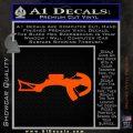Crossbow Decal Sticker Archery Orange Vinyl Emblem 120x120