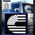 Cummins American Flag Decal Sticker White Emblem 120x120