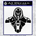 Cylon Armor Decal Sticker Battlestar Galactice BSG Black Logo Emblem 120x120