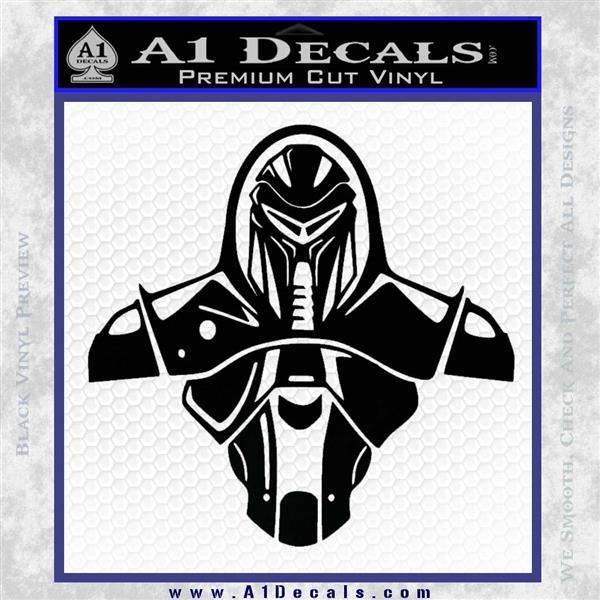 Cylon Armor Decal Sticker Battlestar Galactice BSG Black Logo Emblem