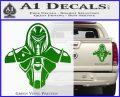Cylon Armor Decal Sticker Battlestar Galactice BSG Green Vinyl 120x97