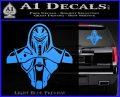 Cylon Armor Decal Sticker Battlestar Galactice BSG Light Blue Vinyl 120x97