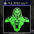 Cylon Armor Decal Sticker Battlestar Galactice BSG Lime Green Vinyl 120x120