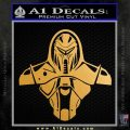 Cylon Armor Decal Sticker Battlestar Galactice BSG Metallic Gold Vinyl 120x120