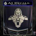 Cylon Armor Decal Sticker Battlestar Galactice BSG Silver Vinyl 120x120