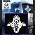 Cylon Armor Decal Sticker Battlestar Galactice BSG White Emblem 120x120