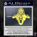 Cylon Armor Decal Sticker Battlestar Galactice BSG Yelllow Vinyl 120x120
