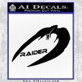 Cylon Raider Decal Sticker Battlestar BSG D4 Black Logo Emblem 120x120