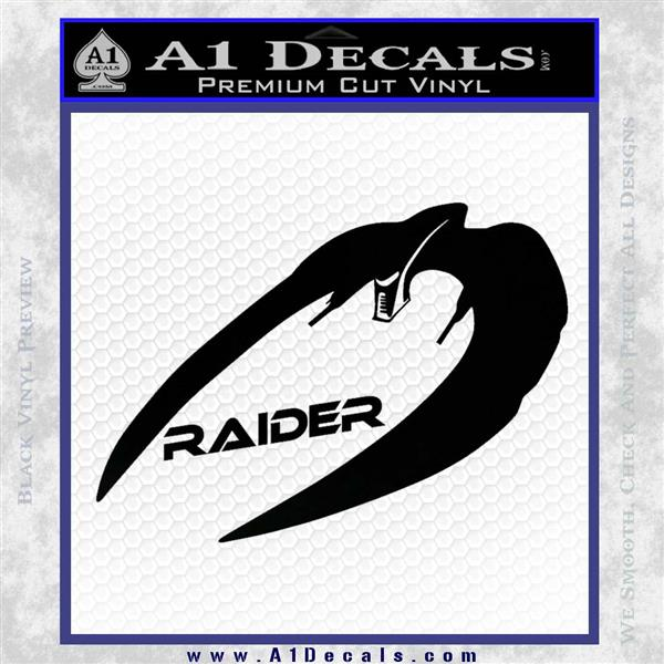 Cylon Raider Decal Sticker Battlestar BSG D4 Black Logo Emblem