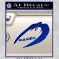Cylon Raider Decal Sticker Battlestar BSG D4 Blue Vinyl 120x120