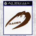 Cylon Raider Decal Sticker Battlestar BSG D4 Brown Vinyl 120x120