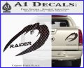 Cylon Raider Decal Sticker Battlestar BSG D4 Carbon Fiber Black 120x97