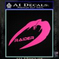 Cylon Raider Decal Sticker Battlestar BSG D4 Hot Pink Vinyl 120x120