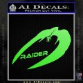 Cylon Raider Decal Sticker Battlestar BSG D4 Lime Green Vinyl 120x120