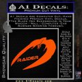 Cylon Raider Decal Sticker Battlestar BSG D4 Orange Vinyl Emblem 120x120