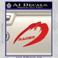 Cylon Raider Decal Sticker Battlestar BSG D4 Red Vinyl 120x120