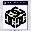 DC Shoes Logo 3D Decal Sticker Black Logo Emblem 120x120