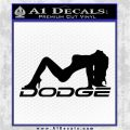 DODGE SEXY GIRL LOGO VINYL DECAL STICKER Black Logo Emblem 120x120