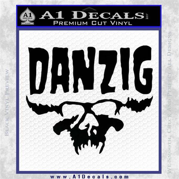 Danzig Decal D3 Sticker Black Logo Emblem