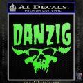Danzig Decal D3 Sticker Lime Green Vinyl 120x120