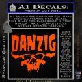 Danzig Decal D3 Sticker Orange Vinyl Emblem 120x120
