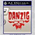 Danzig Decal D3 Sticker Red Vinyl 120x120