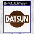 Datsun Decal Sticker CR1 Brown Vinyl 120x120