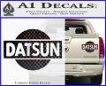 Datsun Decal Sticker CR1 Carbon Fiber Black 120x97