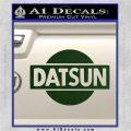 Datsun Decal Sticker CR1 Dark Green Vinyl 120x120