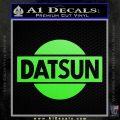 Datsun Decal Sticker CR1 Lime Green Vinyl 120x120