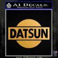 Datsun Decal Sticker CR1 Metallic Gold Vinyl 120x120