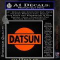 Datsun Decal Sticker CR1 Orange Vinyl Emblem 120x120
