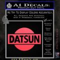 Datsun Decal Sticker CR1 Pink Vinyl Emblem 120x120