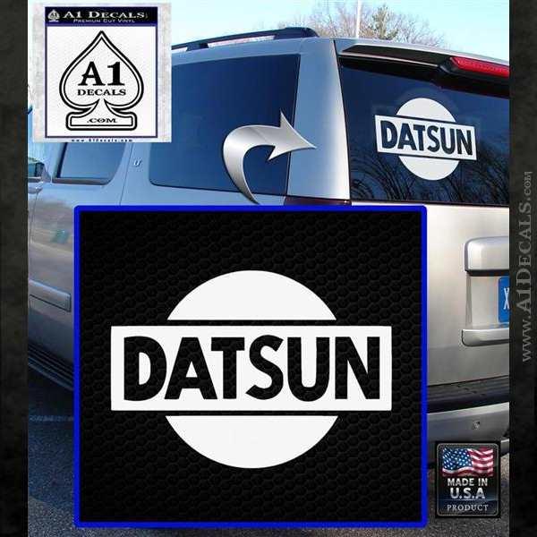 Datsun Decal Sticker CR1 White Emblem