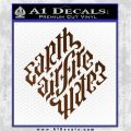 Davinci Code Earth Air Fire Water Symbol Decal Sticker Da Brown Vinyl 120x120
