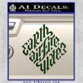 Davinci Code Earth Air Fire Water Symbol Decal Sticker Da Dark Green Vinyl 120x120