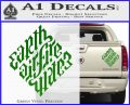 Davinci Code Earth Air Fire Water Symbol Decal Sticker Da Green Vinyl 120x97
